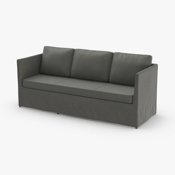 scandinavian 3 seater sofa 3D model