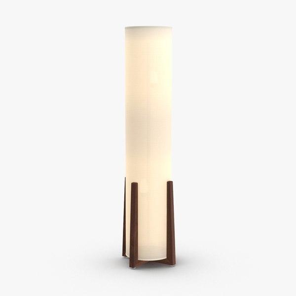 3D contemporary floor light model