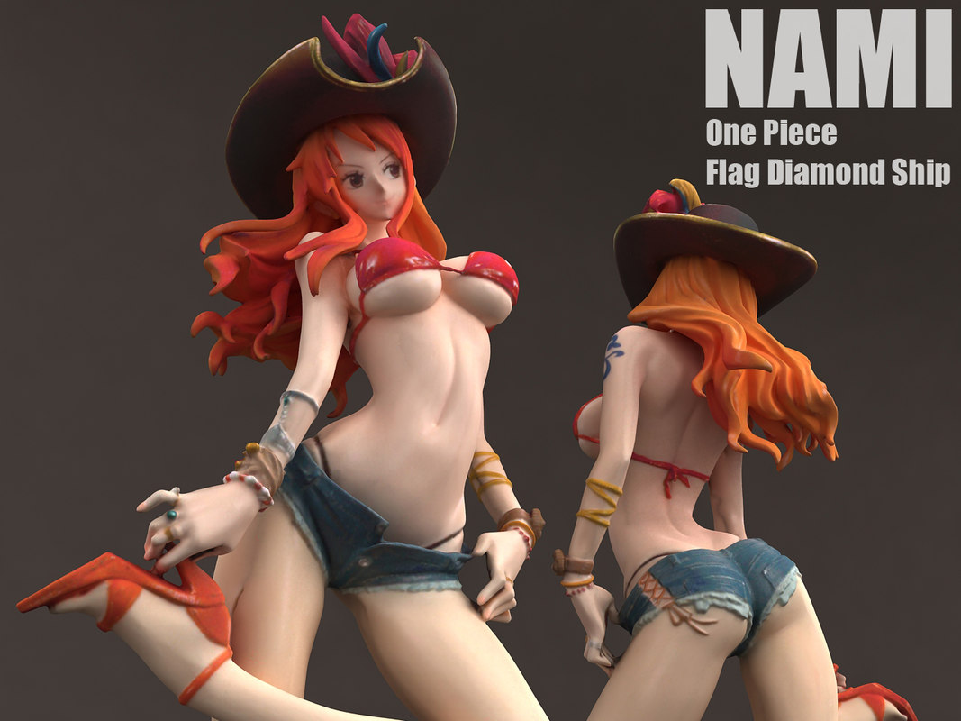 3D nami flag diamond ship