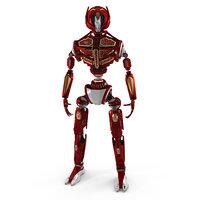 3D robot fv35 christmas edition model