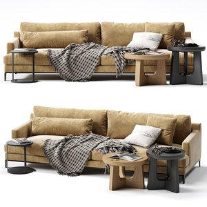 3D model poliform bellport sofa