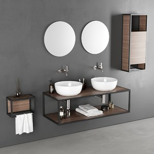 3D frame washbasin glam