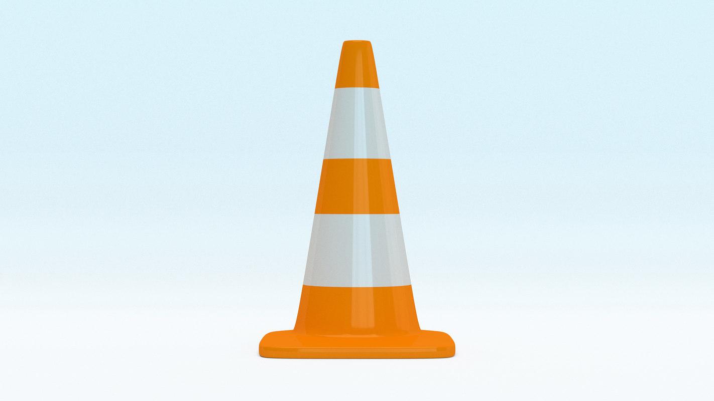 traffic cone square 3D model