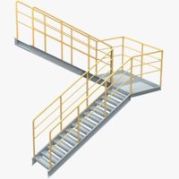 industrial stair 5 3D model