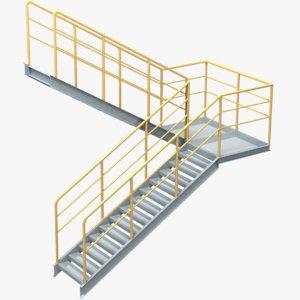 industrial stair 5 3D model