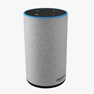 amazon echo new white 3D model