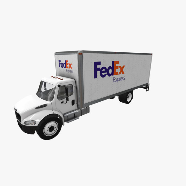 3D model realistic freightliner m2 fedex