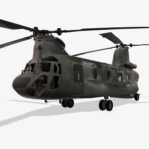 3D helicopter chinook ch-47 model