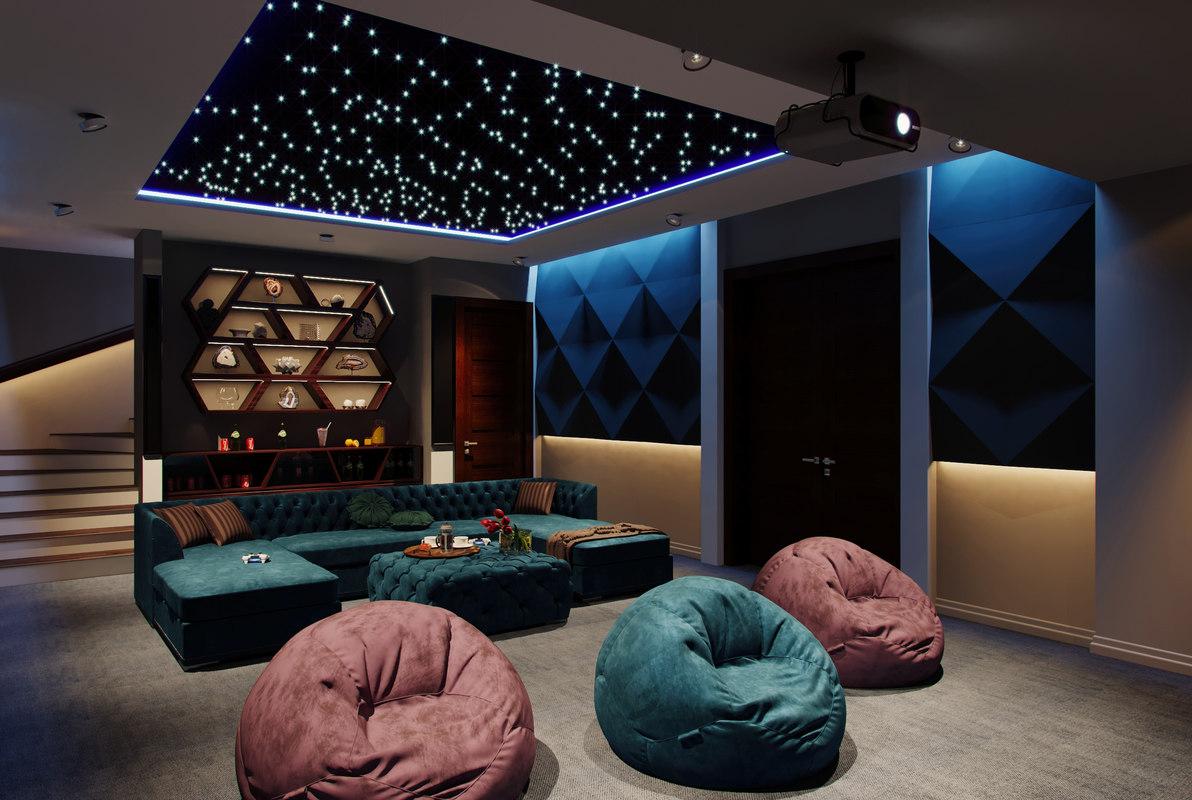 3D modern home