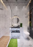 modern loft bathroom interior model