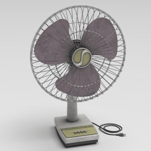 3D table fan model