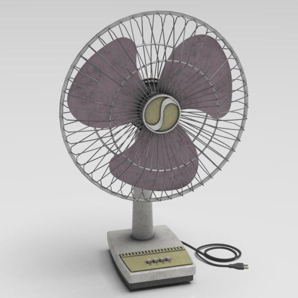 3D table fan model
