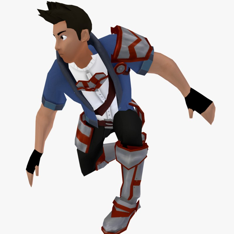 3D stylized male character