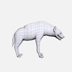 hyena animal 3D