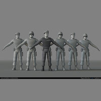 Stylized soldiers pack