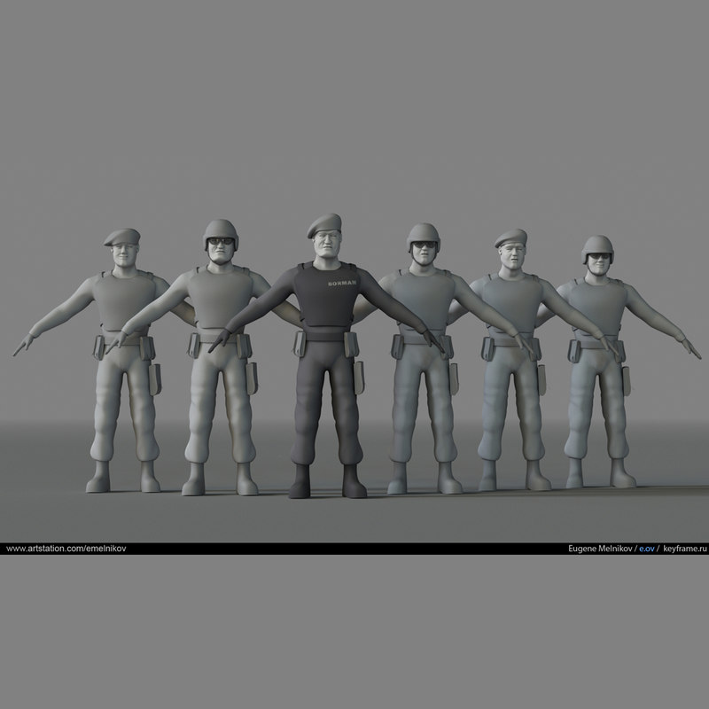 3D stylized soldiers pack