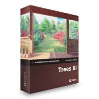 Trees 3D Models Collection  Volume 100