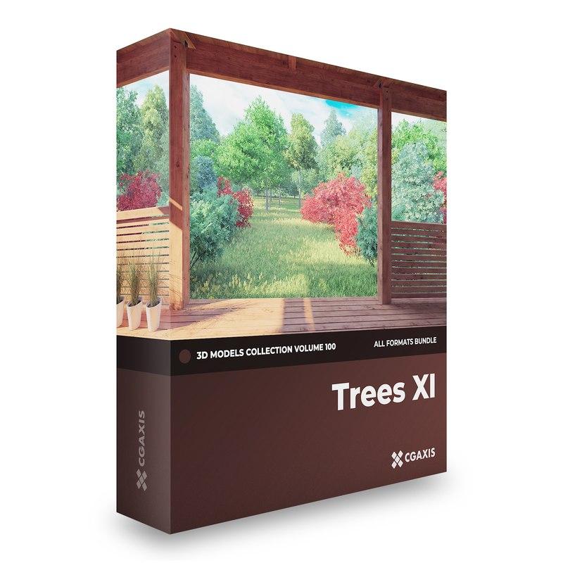 3D model trees volume 100