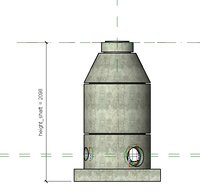 concrete drain shaft model