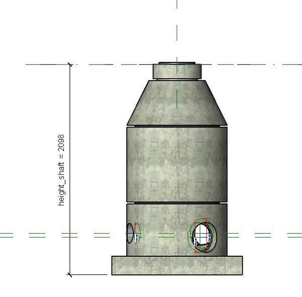 concrete drain shaft model