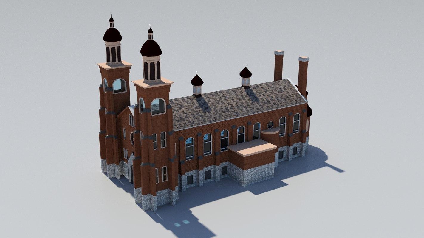 history church 3D model