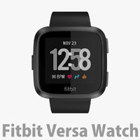 Fitbit Versa Watch Black Aluminum