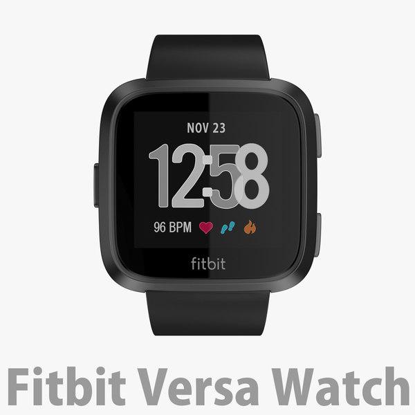 3D fitbit versa watch