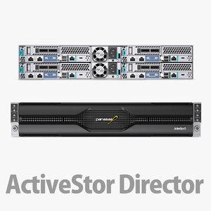 electronic server 3D model