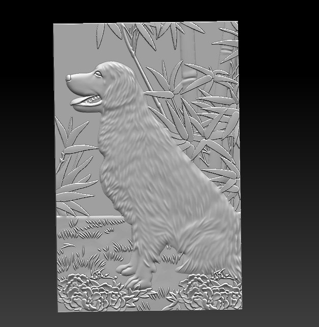 stl dog model