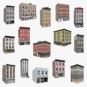 3D 15 apartment buildings