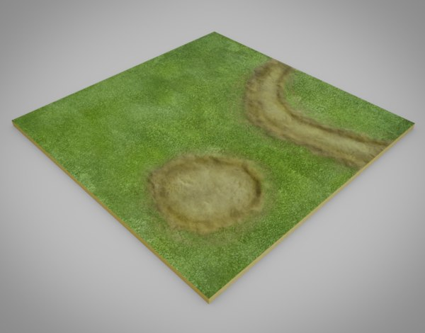 ground grass 3D