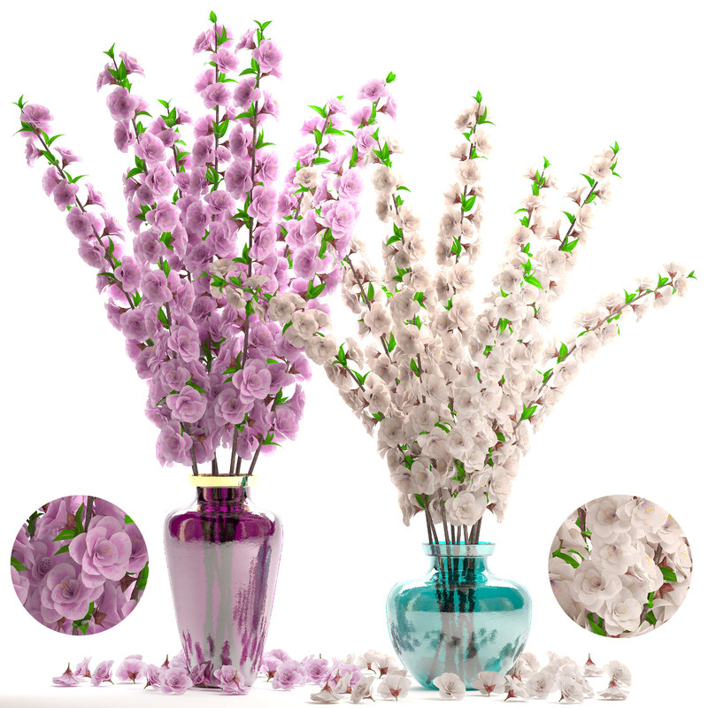 sakura bouquet vase 3D model