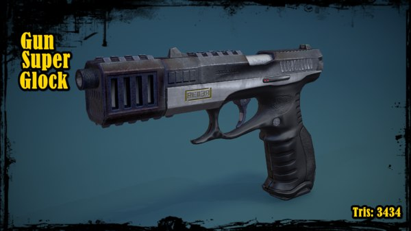 3D gun glock super model