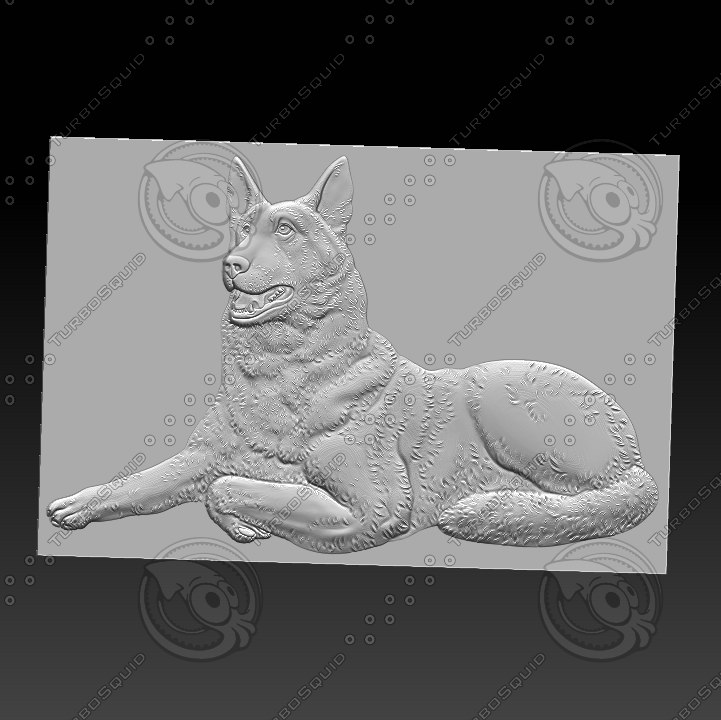 stl dog 3D