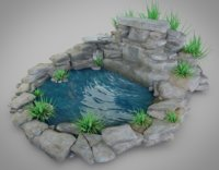 rock water 3D model