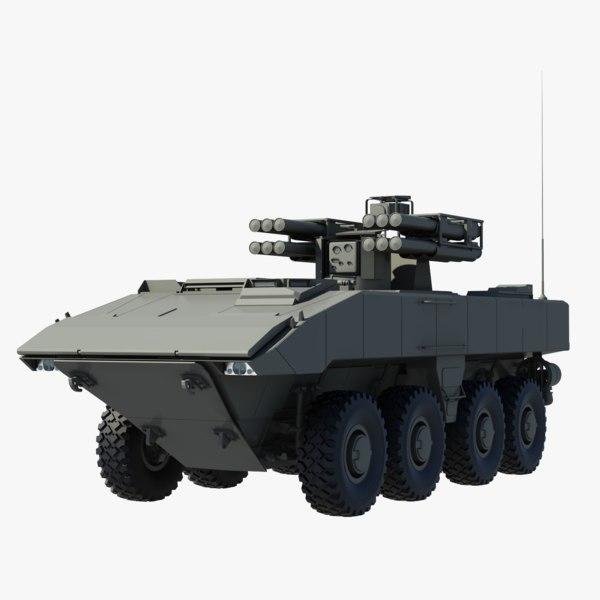 3D combat vehicle boomerang model