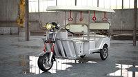 electronic rickshaw auto vehicles 3D