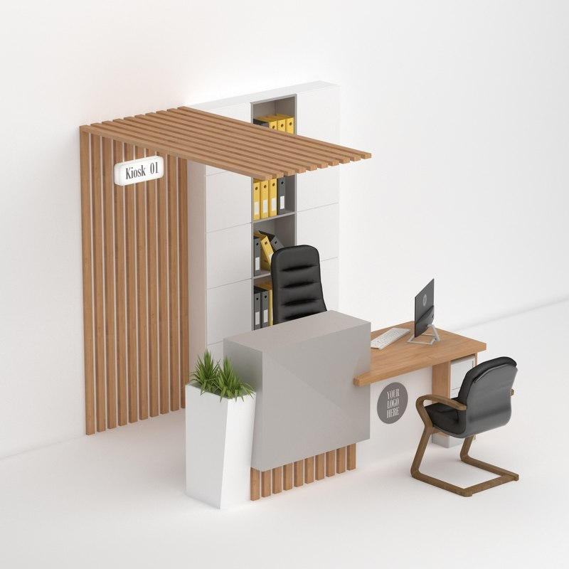 3D desk reception