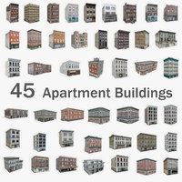 45 apartment buildings model