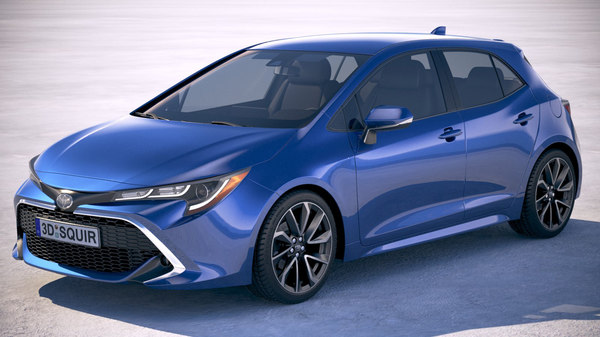 toyota corolla hatchback 3D model