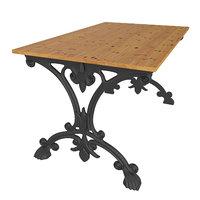 3D table garden cast