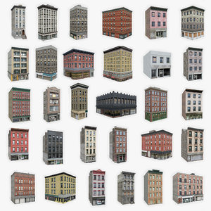 3D 30 apartment buildings model