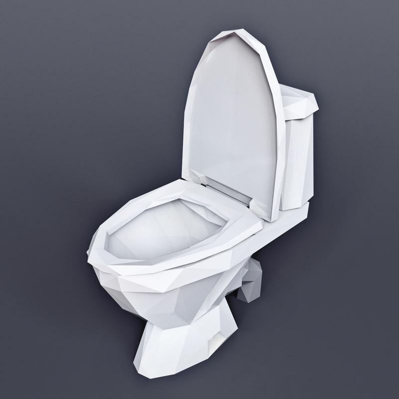 toilet wc 3D