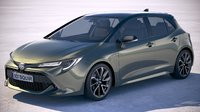 toyota 2019 auris 3D model