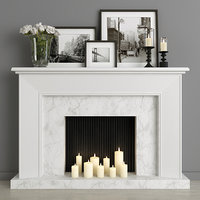 fireplace decor 3D model