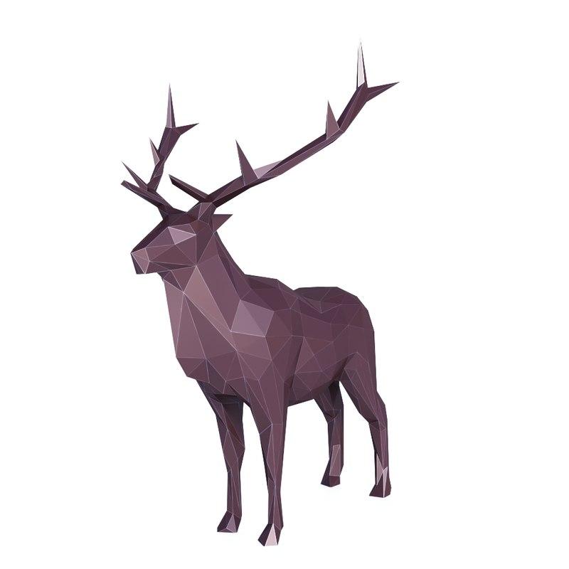 3D animal deer elk