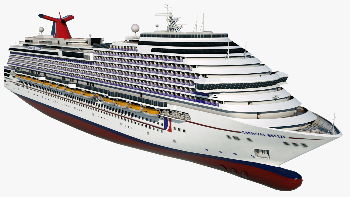 cruise vessel carnival breeze 3D model