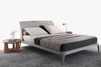 poliform kelly imbottito bed 3D