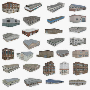3D 30 industrial buildings