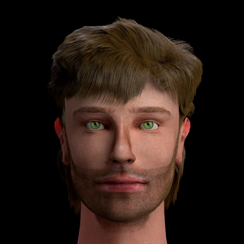 male head arthur 3D model